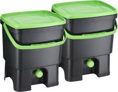 Köögikomposter Bokashi Organko must/roheline