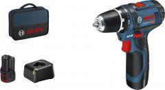 Akukruvikeeraja Bosch GSR, 12 V + 2 x 2 Ah