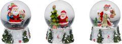 Jõulukaunistus jõuluvana klaaspallis 11 cm
