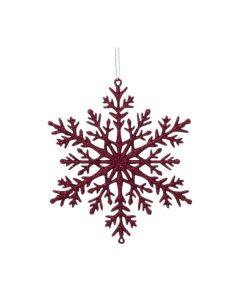 Kuuseehe lumehelves 11 cm veinipunane