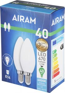 LED-lamp opaal E14 2 tk/pakk