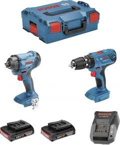 Akutööriistade komplekt Bosch GSB 18V-21 + GDR 18V-160, 18 V + 2 x 2 Ah
