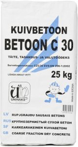 Kuivbetoon Betoon C30 talvine, 25 kg