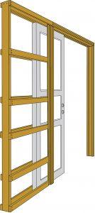 Liugukse raam siinidega 925 x 2040 mm