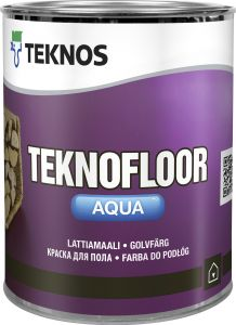 Põrandavärv Teknofloor Aqua 0,9 l, valge